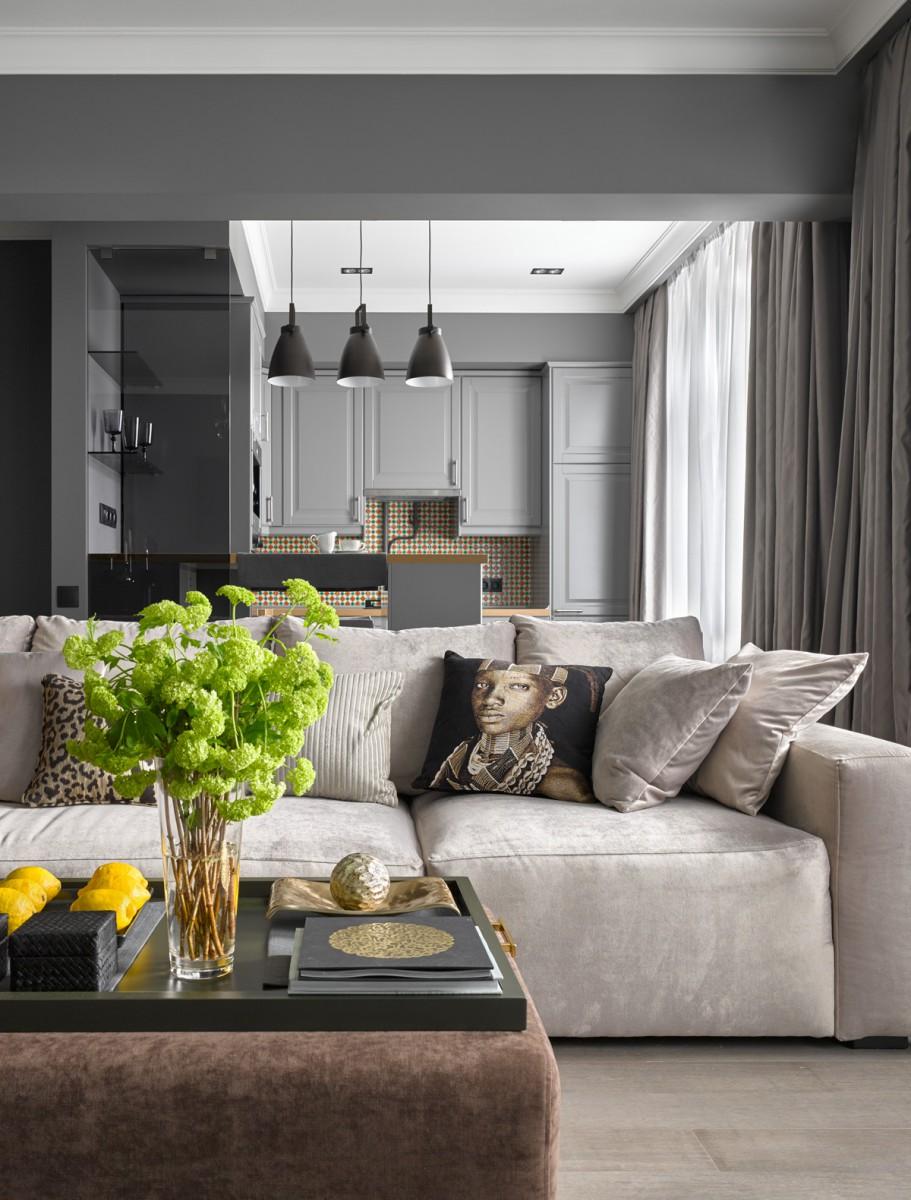 Квартира в сером цвете дизайн