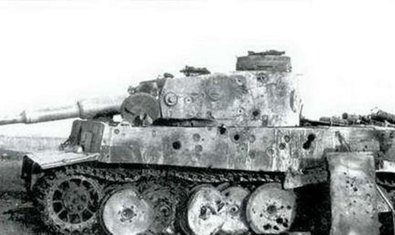 Следы от попаданий тигра