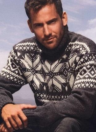 Жаккардовый узор для свитера