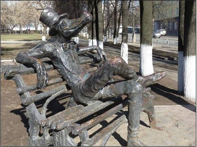 Памятник Крокодилу. Ижевск Прикольные памятники, факты