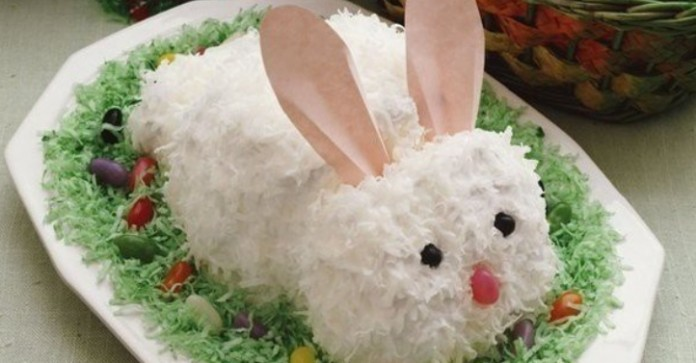 Салат «Белый заяц» В восторге все — и взрослые, и дети!