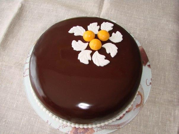 Как сделать зеркальную шоколадную глазурь для торта