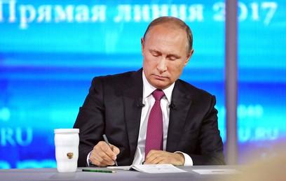 """На """"Прямую линию"""" с Путиным поступило более 1,5 млн вопросов"""