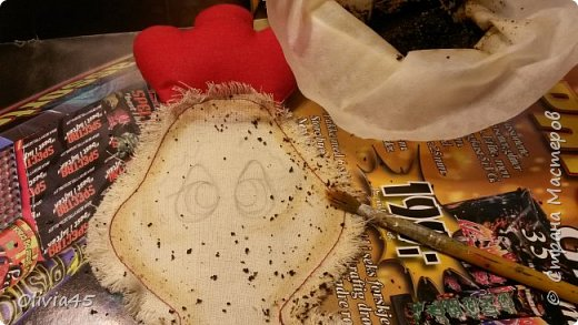 Мастер-класс Поделка изделие Рисование и живопись Шитьё Принцессы курятника  пакетницы небольшой МК Краска Кружево Пуговицы Ткань фото 9