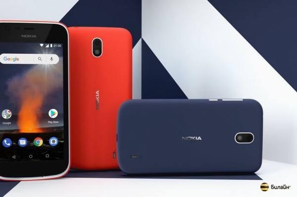 Смартфоны Nokia 1 и Nokia 2.1 появились в «Билайн»