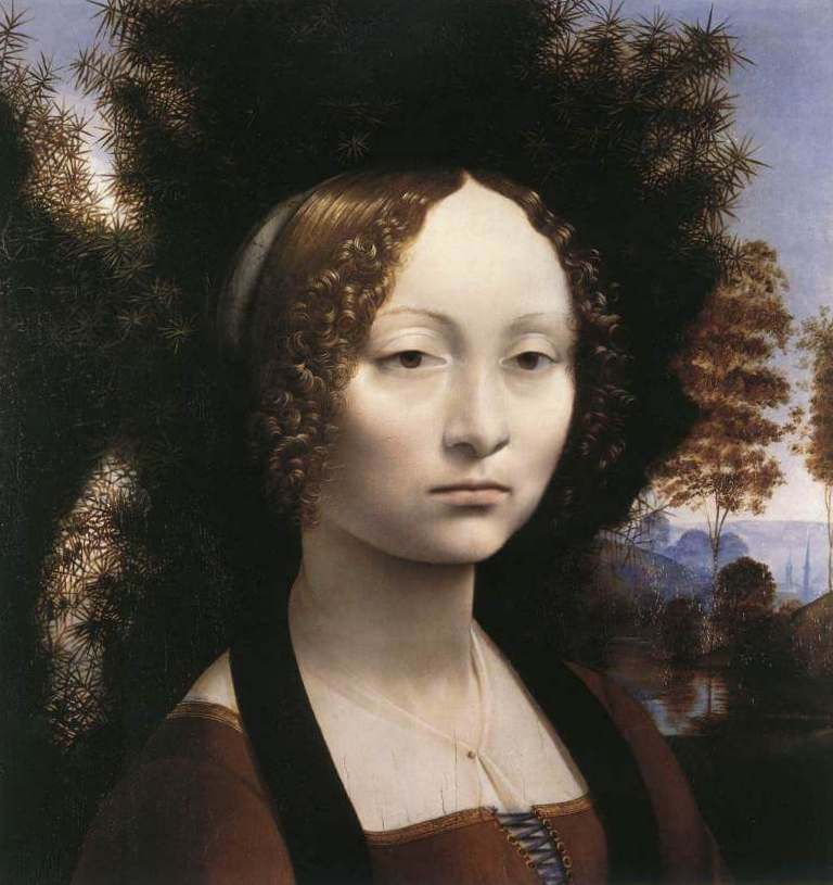 Портрет Джиневры Бенчи - Леонардо да Винчи (1474)