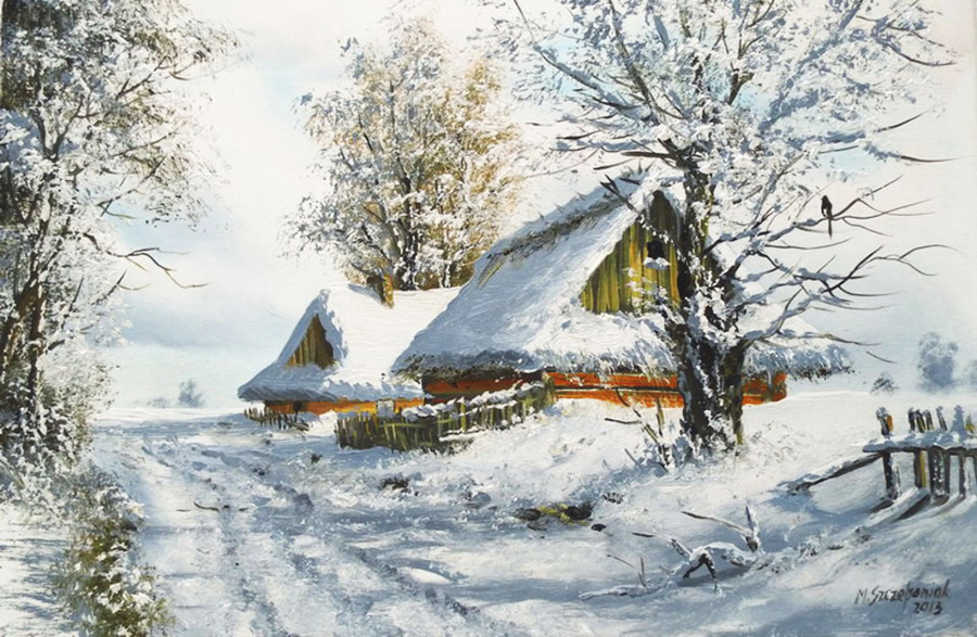Польский художник Marek Zzczepaniak. Зимние пейзажи