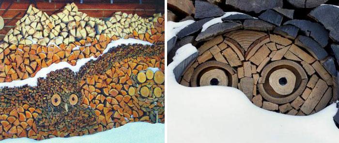 Мозаика из дров мастера Gary Tallman.