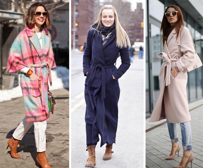 Совет стилиста: как носить пальто-халат