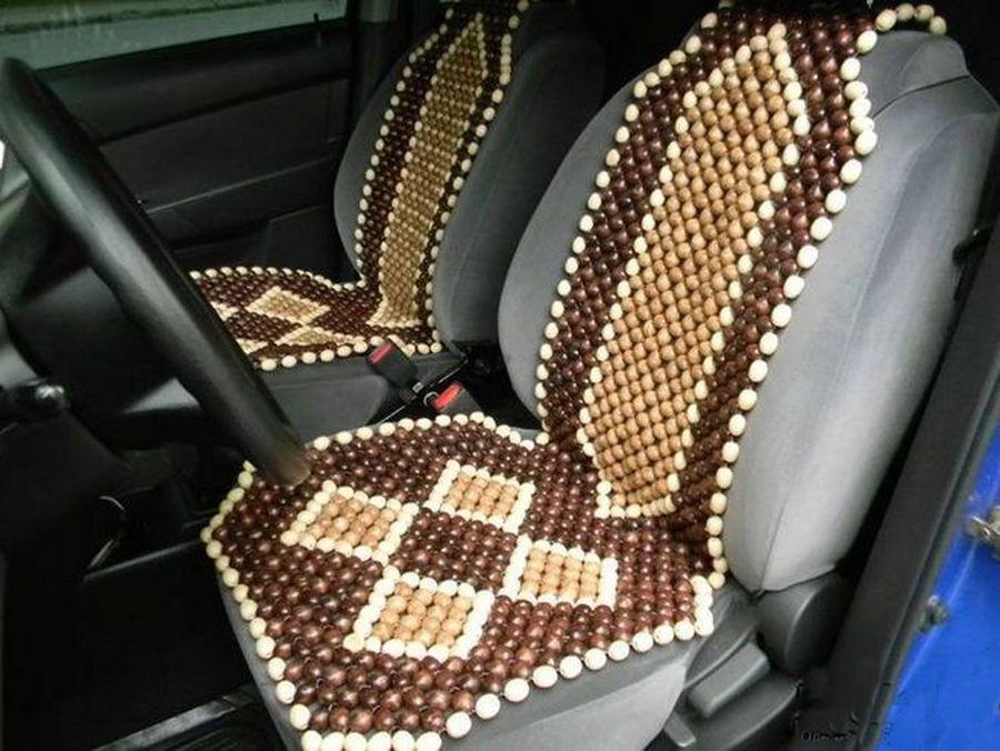 Деревянные накидки на автомобильные сидения
