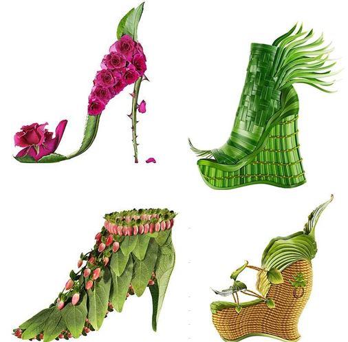 Обувная коллекция из цветов. Просто - полюбоваться...