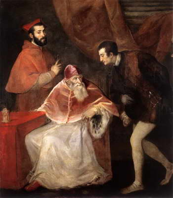 Тициан. Папа Павел III со своими внуками