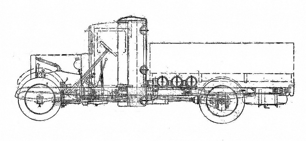 zis_gazgen Схема автомобиля ЗИС-21 с газогенератором1.jpg