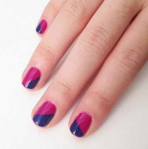 Фото ногтей двумя лаками