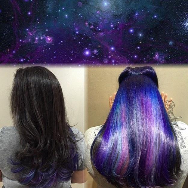 Окрашивание под волосами фото