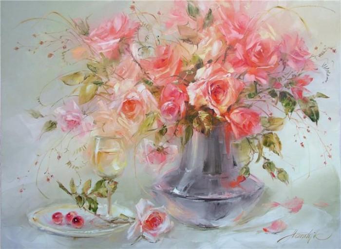 Акварельные цветы, Олег Тимошин