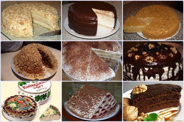 Торты СССР. Рецепты любимых тортов из детства