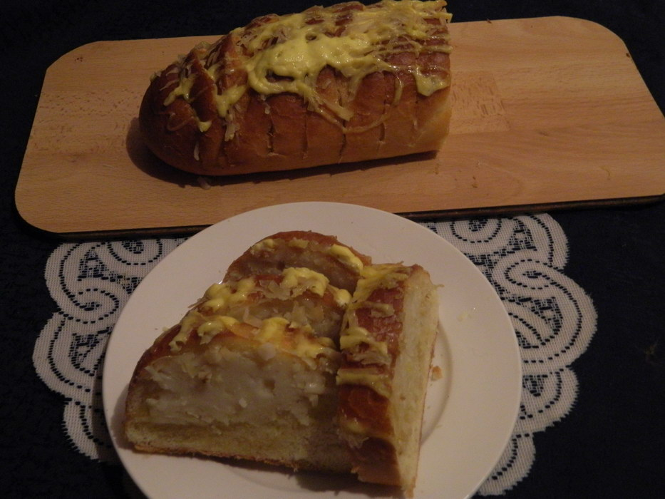 Фаршированный батон-закусон: Вкуснятина за 15 минут