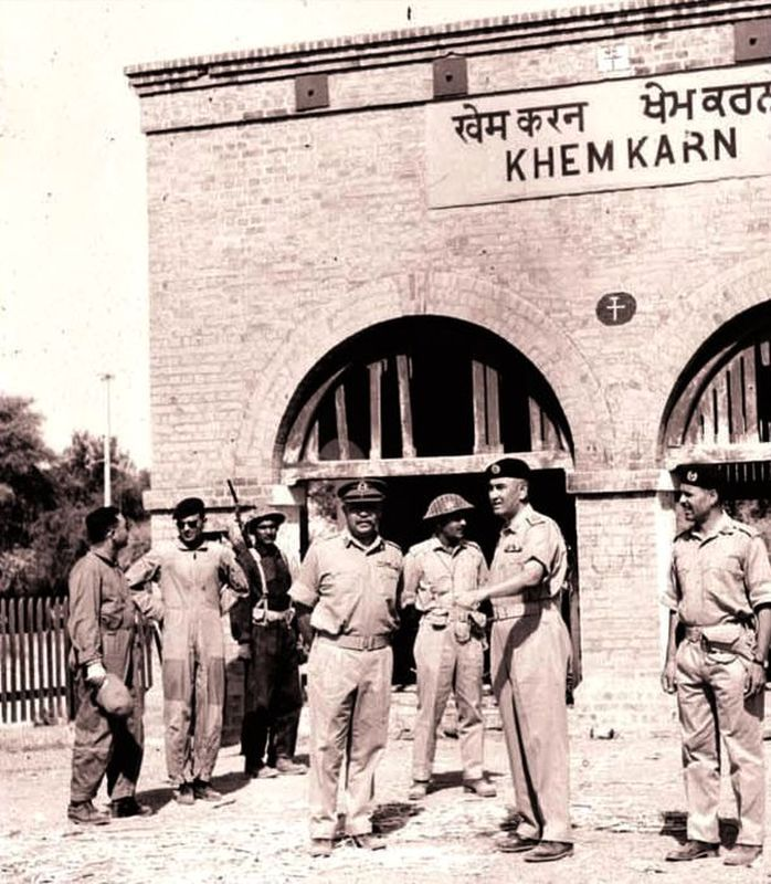 Генерал Муса в Хем-Каране, 1965 год - Индо-пакистанская война 1965 года: танковое сражение за Асал-Утар   Военно-исторический портал Warspot.ru
