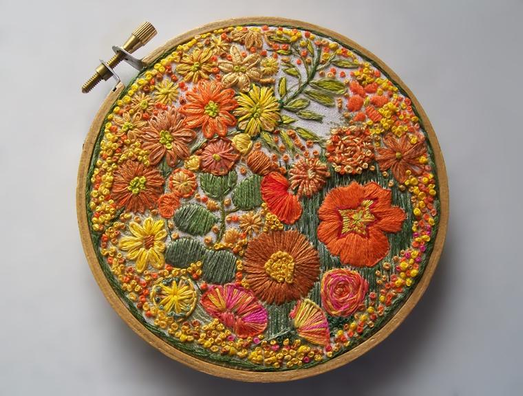 Вышивка британской рукодельницы