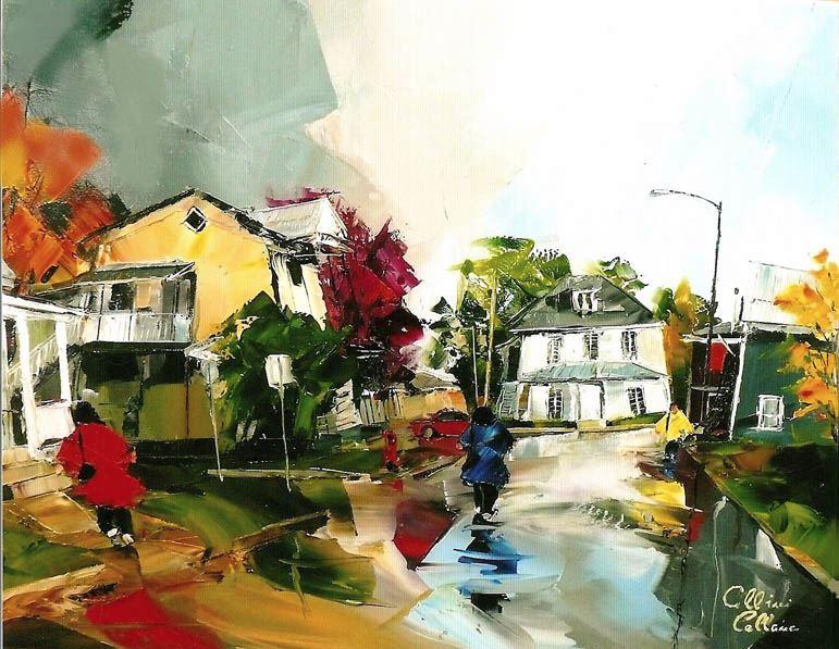 Канадский художник Albini Leblanc. Миниатюры мастихином. Четвертая