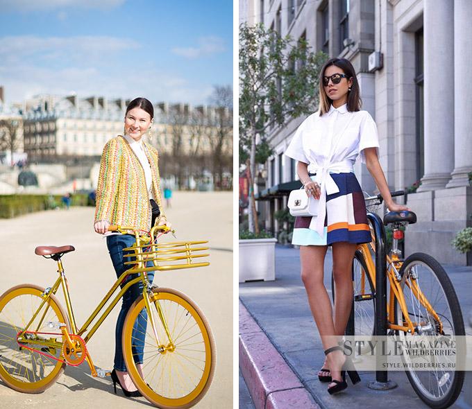На колесах: мода для велосипеда в городе