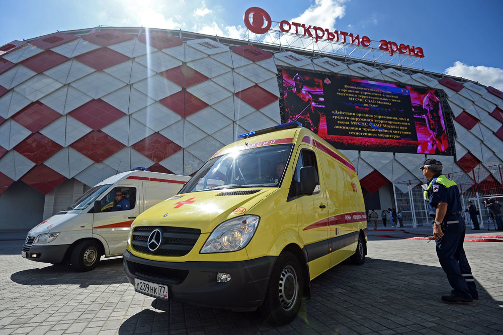 В Москве на чемпионате задействовано более 600 медицинских специалистов