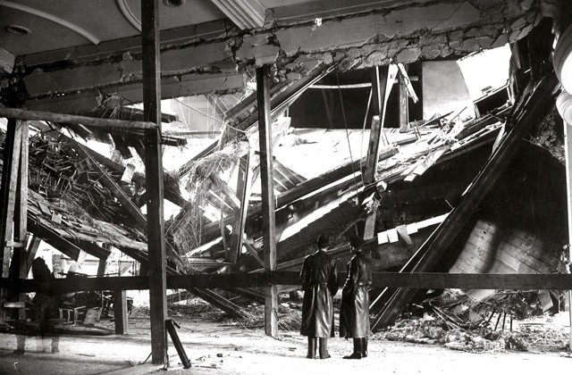 Последствия взрыва в «Бюргербройкеллере». Фото: Gestapo / AP