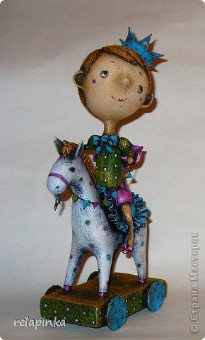 Мастер-класс Поделка изделие 23 февраля Папье-маше Принц на лошадке мастер-класс Бумага фото 51