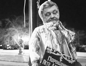 В Одессе повесили Порошенко. Пока правда только чучело.