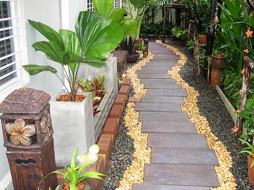Идеи красивых дачных дорожек около дома