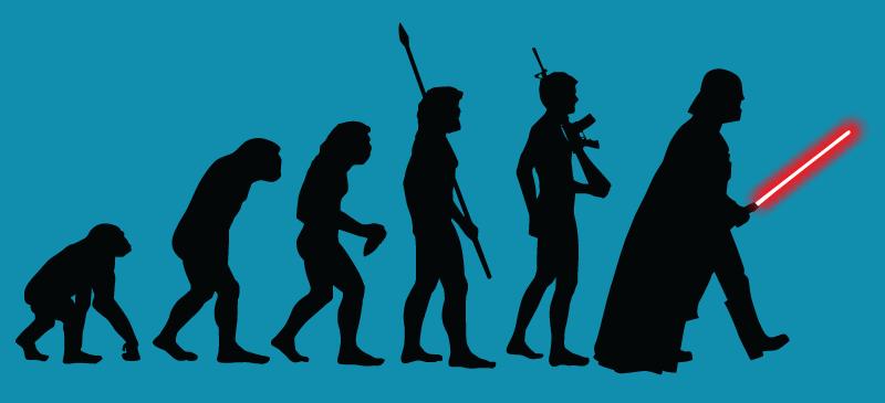Эволюция в иллюстрациях история, прикол, юмор