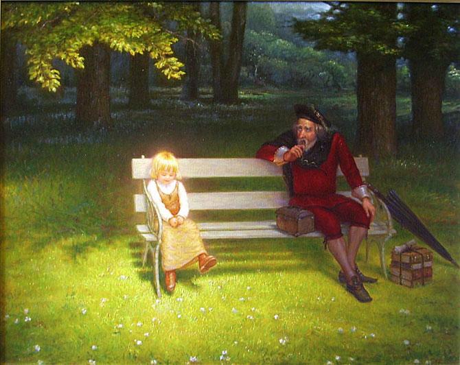 Светящиеся картины Игоря Майкова