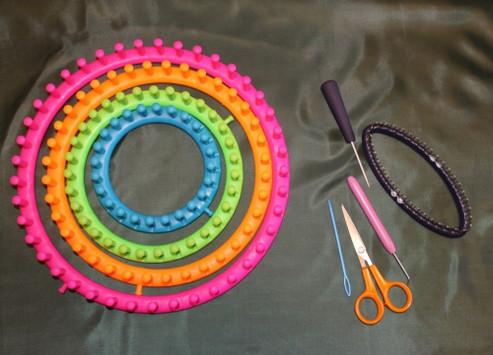 учимся вязать на луме Loom Knitting урок первый лицевые петли
