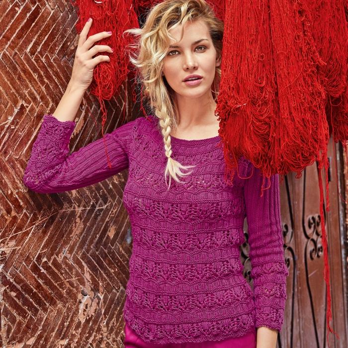 Вязаный ажурный джемпер и пуловер спицами. Как красиво порвать джинсы