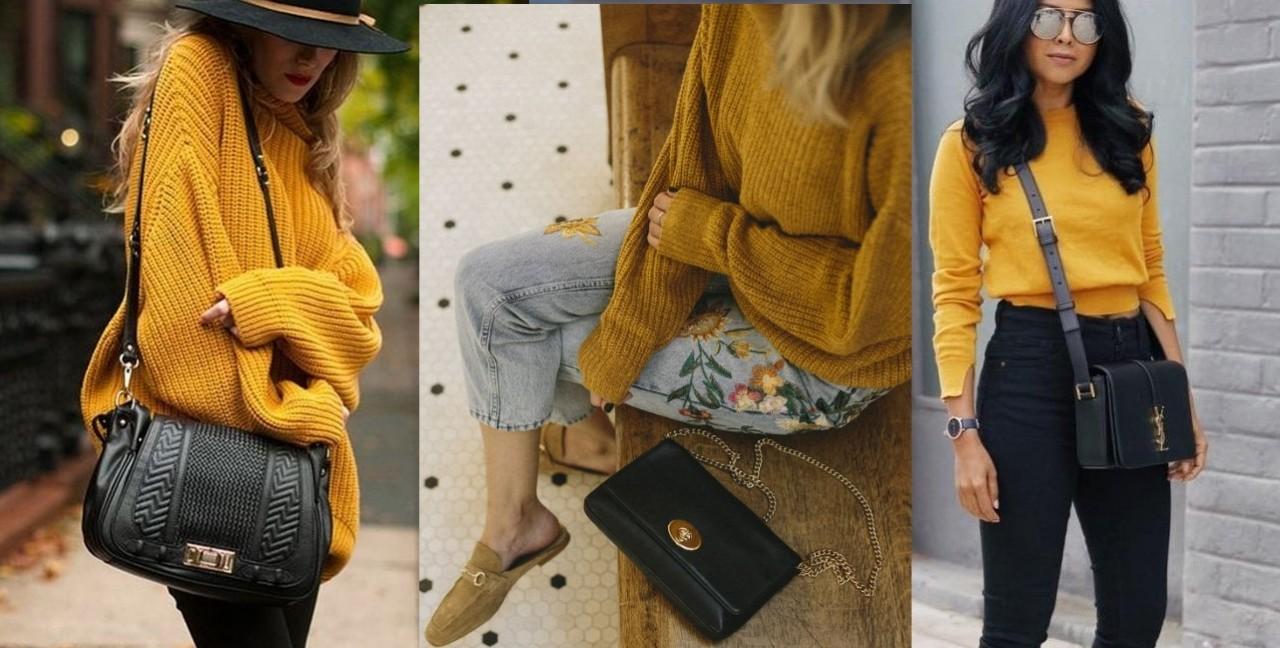 Трендовый желтый в 2018-м: свитеры и кардиганы