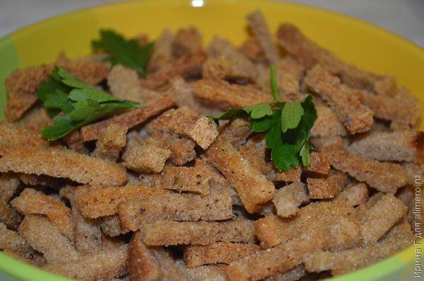 сухарики с чесноком рецепт