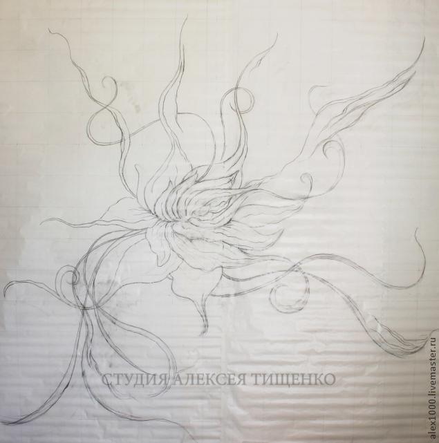 Красота! Лепка: барельеф с фантазийным цветком. Мастер-класс