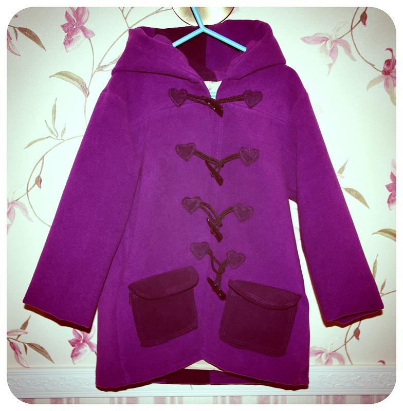 Пальто для девочки из драпа сшить 5