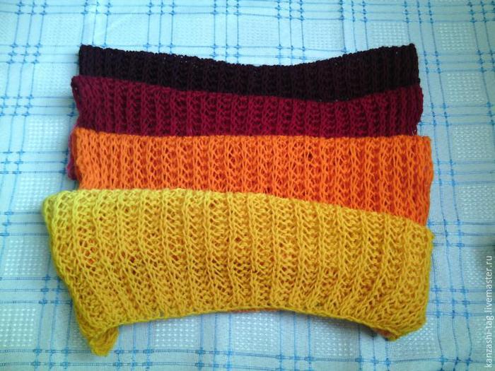 Красим старый шарф с помощью. красителей для яиц
