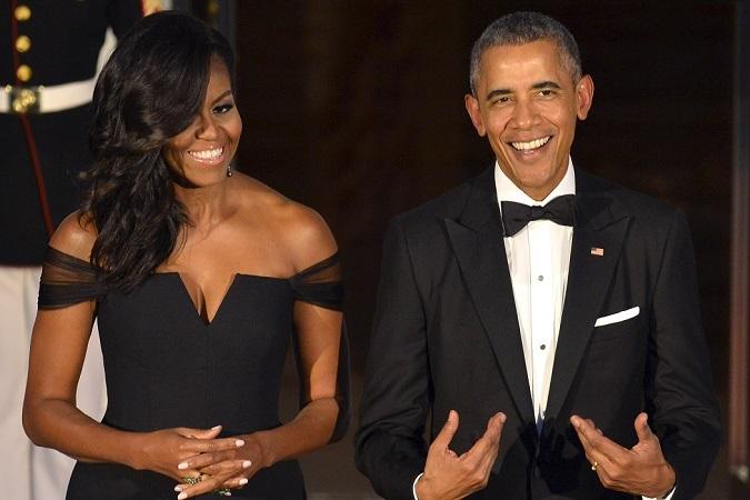 Мишель Обама поучаствовала в спуске на воду новой подлодки