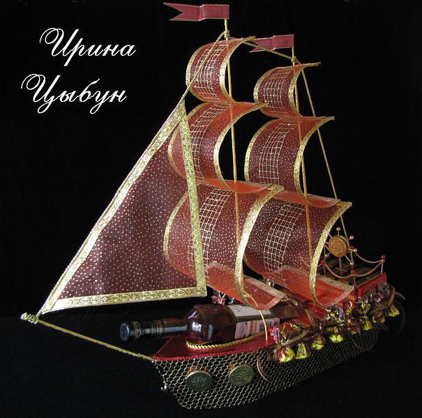 Корабль с конфетами своими руками мастер класс