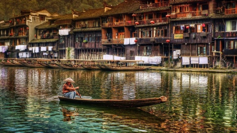 Древний город Фенхуан - красота Китая