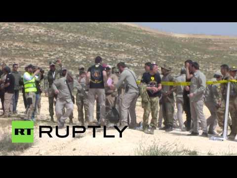 Бойцы чеченского спецназа принимают участие в военных соревнованиях в столице Иордании