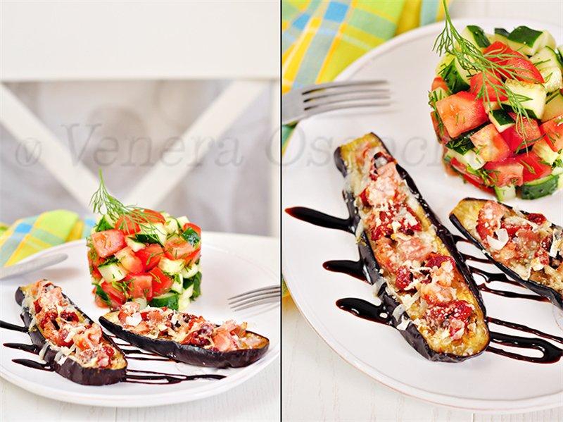 Закуска «пицца из баклажан»