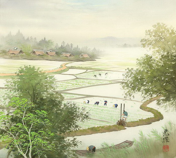 Восточные рисунки Koukei Kojima