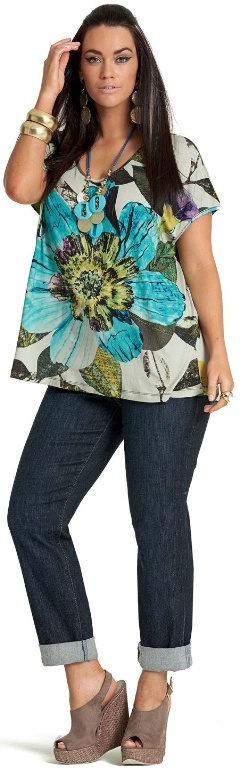 TOURIST BOTANICAL TOP - Tops - My Size, Plus Sized Women's Fashion & Clothing