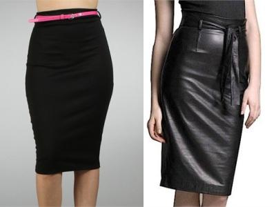 самые модные юбки карандаш 2012