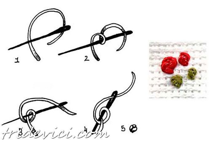 вышивка французским узелком (5)