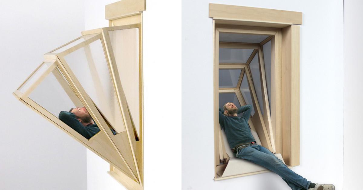 Окно превращается в балкончик